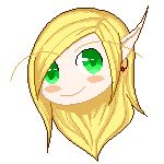 Little experiment! I would like to try pixel art one time and… it's not so bad :) Nalewen in kawai pixel art :P