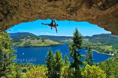 Rockclimbing above Horne Lake, Qualicum Bay, Central Vancouver Island, BC. Travel Pics, Travel Pictures, Central Island, Vancouver Island, Rock Climbing, British Columbia, The Good Place, Earth, Adventure