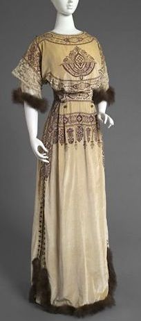 Designed by Callot Soeurs, Paris, 1895 - 1935  Geography: Made in Paris, France, Europe Date: Winter 1910 Medium: Silk velvet, bead embroidery, lace, and mink fur Philadelphia Museum of Art