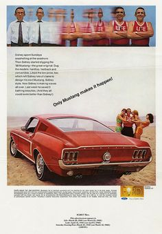 Research Magazine Advertisements. The Best Resource on the Net of Vintage Ads! Mustang GT by Ford. Ford Mustang 1968, Mustang Cars, Ford Mustangs, Retro Ads, Vintage Ads, Vintage Advertisements, Vintage Trends, Vintage Items, Car Advertising