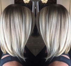 #paintedhair #hairpainting #lob #bob #balayage #blonde #highlights #ivabellasalon #hairbyChristineRiddle