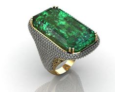 Original Emerald Ring for Men Flat 50% OFF in Pure Silver Rs.3350/- Only Buy Now on Whatsapp 9871980273 Make to Order / All Sizes