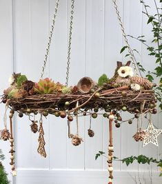 Rustic wreath - rustic woodland decor - rustic wedding decor - Mother's day gift - chandelier wreath - gift for her - woodland theme nursery Woodland Decor, Rustic Decor, Vintage Christmas Ornaments, Christmas Wreaths, Rama Seca, Owl Wreaths, Berry Garland, Rustic Wedding, Wedding Decor