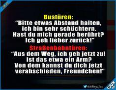 Zack, Arm ab! #Bus #Türen #Witz #Witze #Humor #Spruch #schwarzerHumor