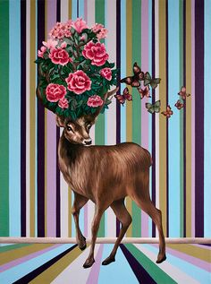 View Flower deer by Oksana Reznik. Browse more art for sale at great prices. New art added daily. Buy original art direct from international artists. Shop now