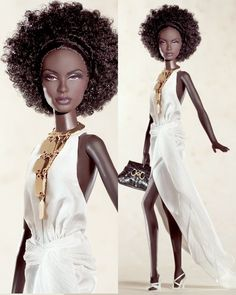 • 2002 The Lingerie #5 Barbie® The Barbie® Fashion Model Collection unveils its first-ever African-American Silkstone™ doll, the fifth Lingerie Barbie® doll. Her enchanting ensemble begins with a delicate black merry widow bustier with pink bow...