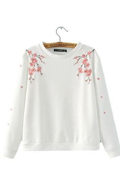 Savannah, Embroidery Floral Sweater - 2 colors