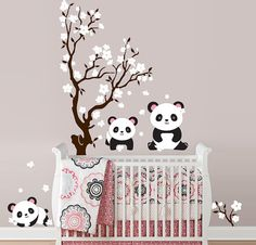 Um like YESSS - for if and when we have a little girl, SO want this on their wall! They will be a WFAM baby afterall - so pandas are a must!