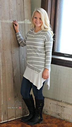 This Double Zero long sleeve tee has an extra special flare at the finish...  beautiful.. #ishoptheloft #fashion #nowtrending #style #ootd #mystyle #boutiquelove #trendy #shopsmall #follow.
