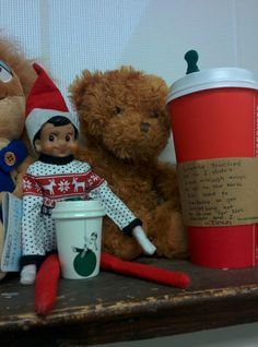 They touched the Elf in the Shelf so I used that as an excuse for Starbucks