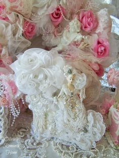 """Olivia's Romantic Home: """"This is my newest lovely Marie Antoinette ohh la la bridal boudoir creation!"""""""