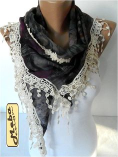Elegant scarf  Fashion scarf  scarves Triangular by MebaDesign