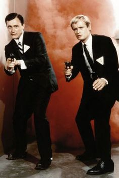The hit TV show 'The Man From U.' with Robert Vaughn as Napoleon Solo and David McCallum as Ilya Kuryakin. I spent those four years with such a crush on David McCallum. Man From Uncle Tv, Codename U.n.c.l.e, The Larry Sanders Show, Barbi Benton, Spy Shows, Robert Vaughn, Napoleon Solo, Jeanne Crain, David Mccallum
