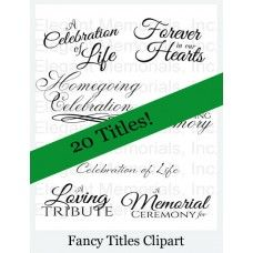 Funeral Program Clipart and Graphics are a wonderful way to add a ...