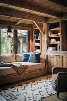 Log home interior design rustic modern cabin interiors – picture Cabin Interior Design, Interior Design Minimalist, House Design, Modern Cabin Interior, Interior Ideas, Chalet Interior, Design Homes, Classic Interior, Cottage Design