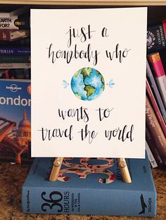 A homebody who wants to travel the by WhenBeautyMetTruth on Etsy