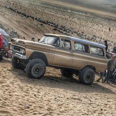 Desert Stormtrooper: 1961 Chevrolet Suburban Apache K-10 4x4 C10 Trucks, Chevy Pickup Trucks, Chevrolet Trucks, Vintage Chevy Trucks, Classic Chevy Trucks, Old Chevy Pickups, Trophy Truck, Panel Truck, Chevrolet Suburban