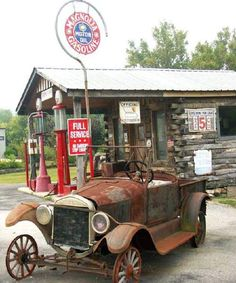 Amazing Rusty Finds - #searchlocated - Old Gas Station