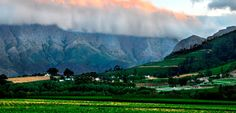 Visiting South Africa's 'French Corner' in the Cape Winelands. Franschhoek in the Western Cape, South Africa.