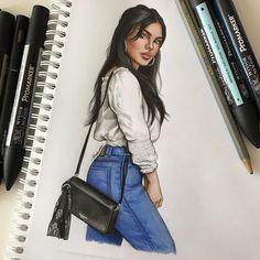"6,087 Likes, 39 Comments - Natalia Madej (@nataliamadej) on Instagram: ""Fresher than you #sketch #fashionsketch #fashiondrawing #fashionillustration #drawing…"""