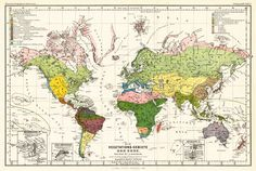 Vegetation map of the world by August Grisebach, 1866. Click through for high res version (it looks good).