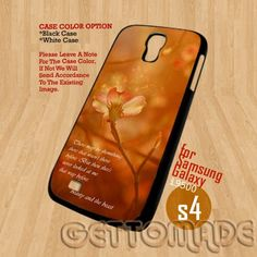 beauty and the beast Quotes-Print On Hard Case Samsung Galaxy S4 i9500 | GetToMade - Accessories on ArtFire
