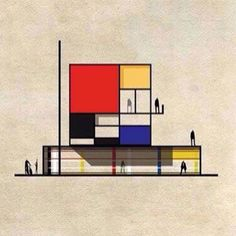 #Mondrian | World famous Design and Architecture | bauhaus-movement.com