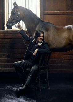 "bethkinneysings: "" ""Norman Reedus photographed by Mark Seliger for Details Magazine "" """