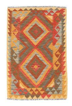 Kilim Afghan Old style rug 2′10″x4′