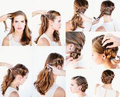 Hair Styles – Hair Care Tips and Tricks Cute Hairstyles, Braided Hairstyles, Elegante Y Chic, Shoulder Length Hair, Tips Belleza, New Hair, Bridal Hair, Fashion Beauty, Braids