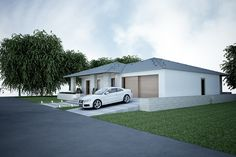 Projekt domu SKU My Home Design, Home Office Design, House Design, Modern Bungalow House, Cottage Plan, House Elevation, House Plans, New Homes, 1