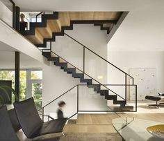 Steel Ribbon Staircase by Qb3 Architects, 10 Favorites: Modern Neutral Stairs | Remodelista