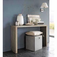 Console en bois blanchi L 130 cm