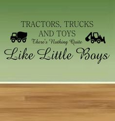 Tractors Trucks and Toys Vinyl Lettering Wall Words Decal on Etsy, $28.00