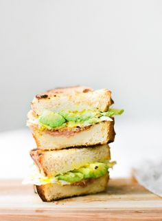 Avocado, egg and prosciutto grilled cheese: http://www.stylemepretty.com/living/2015/08/01/fancified-grilled-cheese/ | Photography: Constance Higley - http://laurenkelp.com/constance-higley/