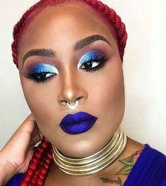 Who said a Queen ♕ can't be a Rockstar . @nikkifacesmua looking fabulous in our #Rockstar by #ColouredRaine.  #colouredraine #cosmetics #eyes #lips #lipstick #liquidlipstick #makeup #makeupartist #sexy #flawless #vegan #eyeshadow #women #beauty #beautiful #fabulous #crueltyfree #autumn #fall #fashion #rockstar #queen #melanin