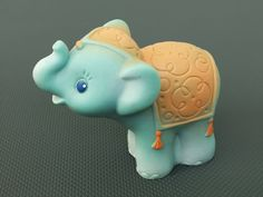 Vintage Rubber Toy Cute Elephant. $9.50, via Etsy.
