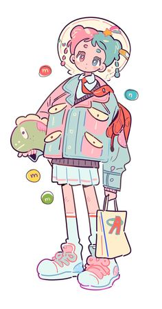 Kawaii Drawings, Art Drawings Sketches, Cool Drawings, Cartoon Drawings, Cute Art Styles, Cartoon Art Styles, Cartoon Kunst, Arte Peculiar, Japon Illustration