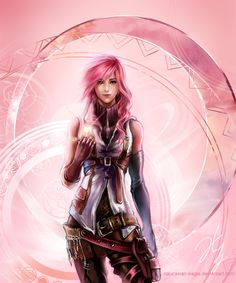 Tribute to Lightning-fan-club by ~Caucasian-eagle on deviantART Lightning Final Fantasy, Final Fantasy Vii, Final Fantasy Characters, Final Fantasy Artwork, Fantasy Paintings, Fantasy Series, Fantasy Images, Dnd Characters, Manga Anime