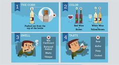 4 consigli per riconoscere il #vino andato a male | #Infografica #umbertocesari