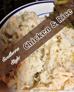 New link! Chicken and Rice with sweetteatraditions - NOW mamacranescabin