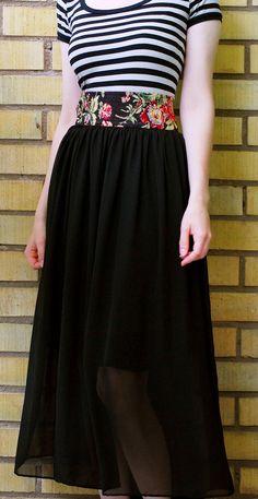 DIY Clothes DIY Refashion  DIY Chiffon Skirt Remake and Jersey Dress to Skirt