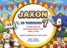 Invitación de Sonic Sonic partido fiesta de por Vintagefoil en Etsy