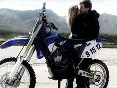 Motocross Save the Date picture! #dirtbikes #wedding #engagement