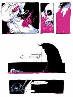 Frisk, Asriel, and Sans - comic