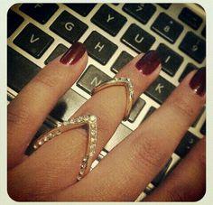 Chevron Vanity Ring