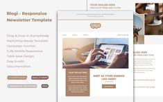 Blogi - Responsive Newsletter Template Newsletter Design, Newsletter Templates, Blogger Templates, Campaign Monitor, Mobile Responsive, Computer Internet, Email Campaign, Products, Email Newsletter Design