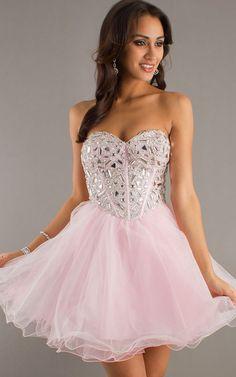 Light Purple Ombre Dresses | Home :: Prom Dresses 2014 :: Pink Rhinestone Top Strapless Short ...