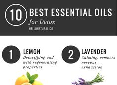 Support your liver, colon, skin, lymph system and kidneys with 10 of the best essential oils for detox.