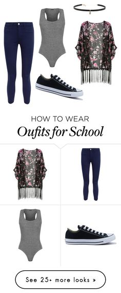 """""""Literally what I'm gunna wear tomorrow for school"""" by diazgirl-1 on Polyvore featuring WearAll, L'Agence, Converse and Carbon & Hyde"""